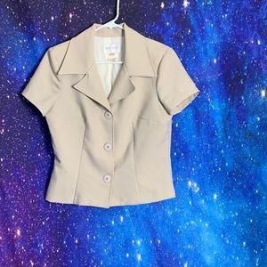 XOXO Dresses- Beige Blazer size 9